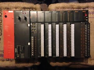 Mitsubishi Melsec Plc System A63p A2acpu 8 Slot With Modules used