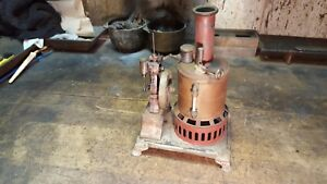 Antique Steam Engine Toy Upright Bottle Type Restoration Project