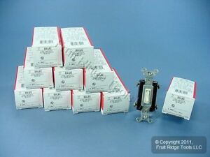 10 New P s Light Almond 4 way Commercial Toggle Wall Light Switches 15a 664 lag