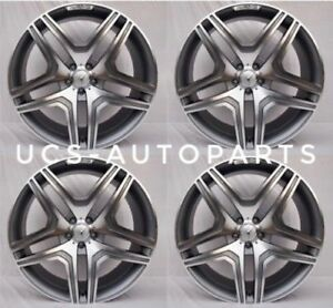 20 X 8 5 Mercedes Benz Gl Gunmetal Wheels Rims New Set Of 4