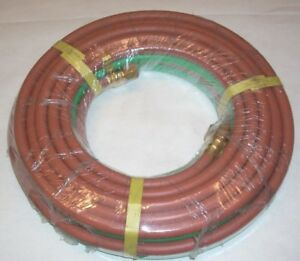 1 4 X 25 Ft Twin Welding Hose Grade T For Lp Propane Gas Oxygen B size 300 Psi