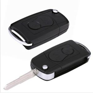 2btn Car Flip Remote Key Shell Cover Fit For Ssangyong Actyon Kyron Rexton Ap
