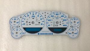 2007 2013 Gm Chevy Truck Cluster White Gauge Face Overlay Trans Temp Aftermarket