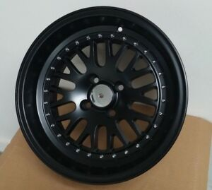 New 4 15x8 0 Lm20 Style Black Lip Rims Wheels Fits Honda Civic Integra Civic