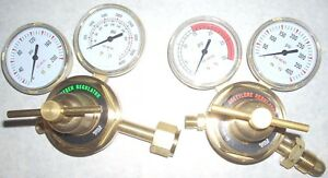 Oxygen Acetylene Lp Propane Regulator Set Cutting Welding 2 1 2 Gauges Cga510