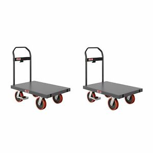 Suncast Commercial 24 X 36 All Purpose Metal Platform Hand Truck 2 Pack