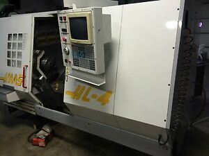 Haas Hl 4 Cnc Lathe 10 Hyd Chuck Collets Tooling 1997 Chip Conv Turret