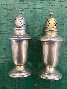 Salt Pepper Shakers Gorham Solid Sterling Silver Vintage