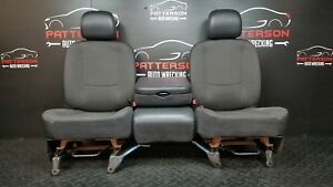 2002 Dodge Ram 1500 Regular Cab Set Front Seats Cloth Dark Slate Gray P9dv