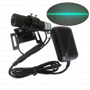 Industrial 510nm 520nm 100mw Green Laser Line Module Power Adapt And Bracket