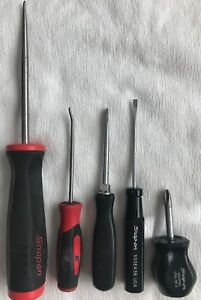 Snap On Tools Screwdriver Awl Pick Lot 5 Total