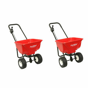 Earthway 2030p Plus Deluxe Estate Broadcast Seed Fertilizer Spreader 2 Pack