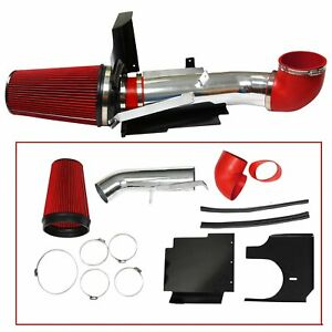 Fit 99 06 Silverado 1500 2500 V8 4 Cold Air Intake Induction Kit Filter Red