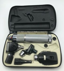 Welch Allyn Diagnostic Set Ophthalmoscope 11620 71050 Handle And Otoscope
