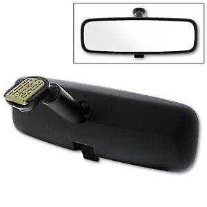 Black 8 Day Night Interior Inside Rearview Mirror Assembly Flat Type Mount