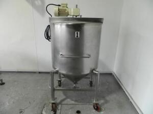 Ce Howard 175 Gallon Stainless Steel Mixing Tank
