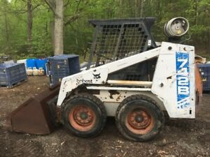 Bobcat 742b Skid Steer Loader Gasoline And Propane Runs Great