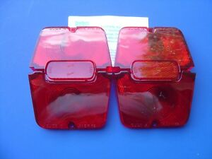 1962 1963 1964 Nova Taillight With Red Backup Lens Kit custom trim Parts lh