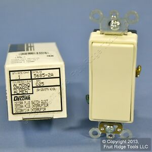 Leviton Almond Spdt Maintained Center off Commercial Rocker Switch 15a 5685 2a