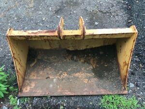 Nos 48 Jcb 214 3cx Backhoe Ditch Cleaning Smooth Bucket Mini Excavator