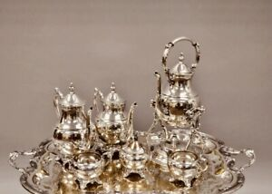 Vintage Silver Plated Tea Service F B Rogers Silver Co