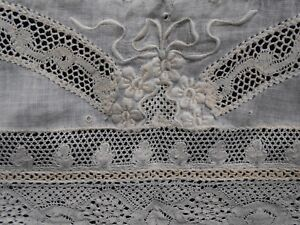 French Normandy Lace Hand Made Table Center Piece