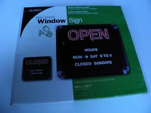 Open Closed Window Sign Quartet