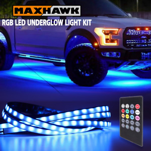 Rgb 8 Color Car Truck Underglow Under Body Neon Accent Led Tube Lights Kit 4 Pcs
