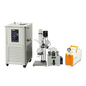 5l Rotary Evaporator Complete Turnkey Package W water Vacuum Pump