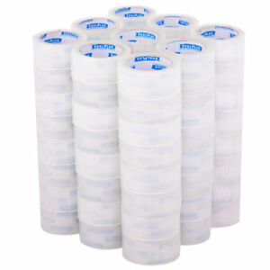 72 Rolls Clear Box Carton Sealing Packing Packaging Tape 2 Inch X 180 Ft Each