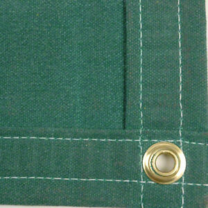 Sigman 6 X 8 Heavy Duty Cotton Canvas Tarp 18 Oz Green Made In Usa New