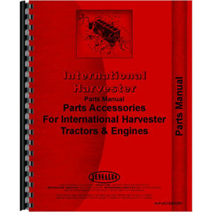 Ih p accessory Mccormick Deering W9 Tractor Accessories Parts Manual