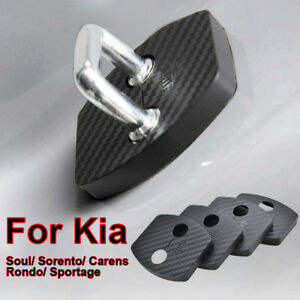 Carbon Fiber Door Lock Striker Cover For For Kia Sportage Soul Carens Sorento