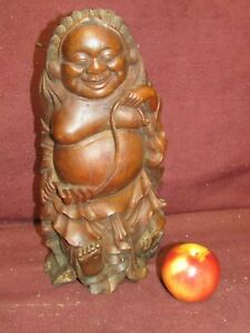 Old Or Antique Chinese Bamboo Carving Sculpture Buddha