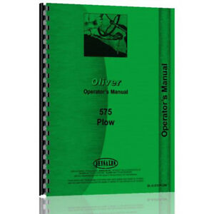 New Oliver hart Parr 575 Plow Operator Manual ol o 575 Plow