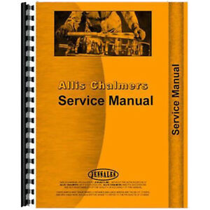 Service Manual For Allis Chalmers Hd21p Diesel Crawler sn 12000 16000