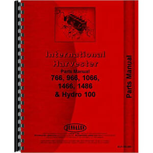 New International Harvester 766 Tractor Chassis Only Parts Manual