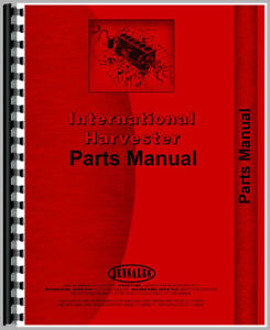 International Harvester Td18a Crawler Bulldozer Attachment Parts Manual