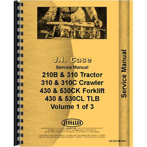 New Case 310c Tractor Loader Backhoe Service Manual