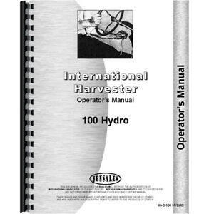 New Farmall 100 Tractor Operators Manual hydro