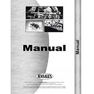 Operator s Manual For Ford S 41 Row Crop Cultivator Front Mounted