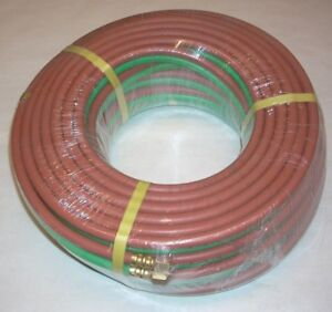 1 4 X 100 Grade T Twin Welding Hose W Fittings For Oxygen Acetylene Lp Propane