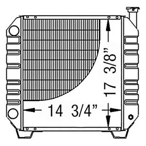 86402724 Radiator For Ford New Holland Compact Tractor Tc35 Tc35d Tc40 Tc40d