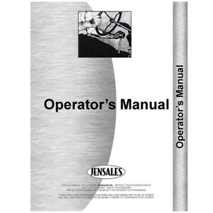Operators Manual Made For Allis Chalmers Tractor Models 8050 8070