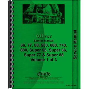 New Oliver 88 Tractor Service Manual row Crop Standard And Industrial