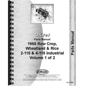 Oliver 1950 Tractor Parts Manual