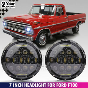 7 Round Led Headlight Hi lo Sealed Beam Projector For F 100 Vw Type Bus Ghia