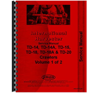 New International Harvester Td18a Crawler Series Service Manual