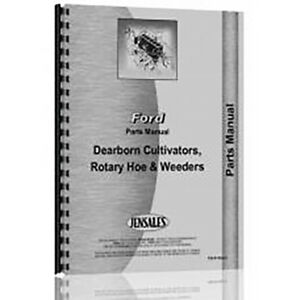 Parts Manual For Dearborn Field Cultivator Tractor model 10 95 Thru 10 106c