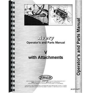 Operators Parts Manual For Minneapolis Moline V Plow and Attachments
